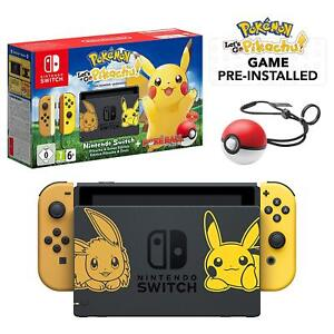 New Nintendo Switch Let S Go Pikachu Limited Edition Game Console