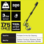 thumbnail 7 - 18V 320PSI 0.8GPM Electric Pressure Washer Cordless Adjustable Nozzle Cold Water