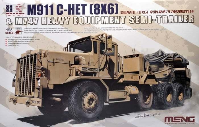 MENG 1 35 M911 c-het (8x6) & M747 schwer Ausrüstung Sattelschlepper  ss-013  | Fein Verarbeitet