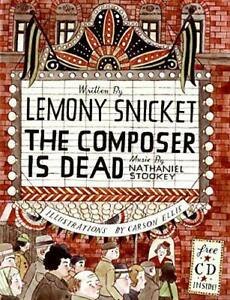 The-Composer-is-Dead-Book-amp-CD-by-Lemony-Snicket-Hardcover-Book-9780061236