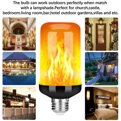 LED Lamp Flame Effect Simulated Fire Light LED Flickering Flame Light Bulbs