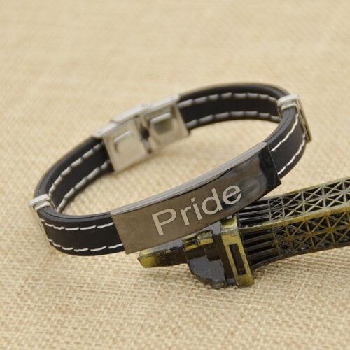 Bangle Bracelet Armspange Schmuck Pride Regenbogen Armband Armreif Lesbian LGBT