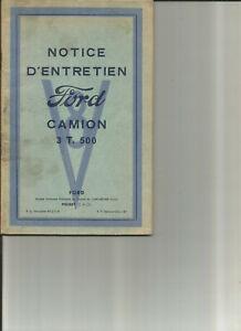 FORD-CAMION-3-T-5-V8-1950-notice-entretien-conduite-utilisation-carnet
