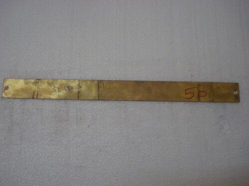 BATH ROOM – Marine BRASS Door Sign Boat//Nautical -11.75 x 1 Inches 50 CERT
