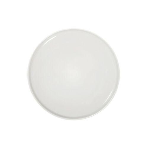 NEW 12 Piece Mainstays Matte White Shine Stoneware Dinnerware Set Round
