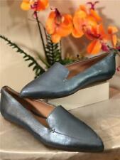 Taryn Rose Womens Faye Shimmer Metallic Loafer Flat