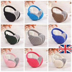 1PC Muffs Earmuffs Ear Warmer HeadBand Plush Ladies Men Girls Boys UK Stock