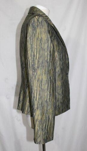 m l Un Vert New York Texturé 10 Jones Seul Bouton Veste Tissu Aquarelle qB6tW