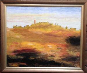 VICO-D-ELSA-ITALIEN-OLGEMALDE-SIGNIERT-ERNST-LUDWIG-NIEMANN-RAHMEN-MODERN-ART