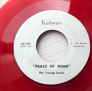 YOUNG-LORDS-red-vinyl-doowop-acappella-45-PEACE-OF-MIND-b-w-Dave-Du-Woppers-E111