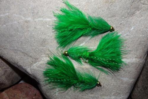 Goldkopf WOOLLY BUGGER Streamer # 6 Forellen-Bach-Teich-See Forelle Köder 3 St