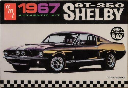 1967 Mustang Shelby GT-350 1:25 AMT Model Kit Bausatz in schwarz AMT834
