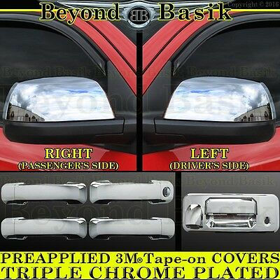 For 2014-2018 Tundra Reg Cab GLOSS BLACK Door Handle Covers+Tailgate Cover w//Cam