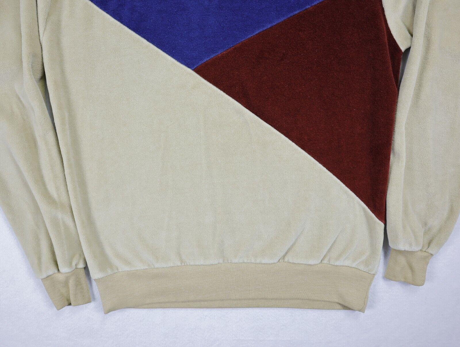 Sears Sportswear mens velour sweater medium brown… - image 2