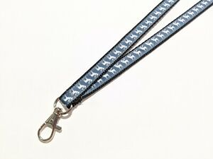 Handmade Black and White Plaid ID Lanyard with Lobster Claw Clasp or Clip