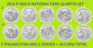 2016 P,D,S BU Shawnee ILLinois National Forest NP Quarter Choice Uncirculated US Mint 3 Coin Set