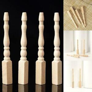 4PCS-Cabriole-table-legs-dollhouse-miniature-1-12-scale-wood-U2V5