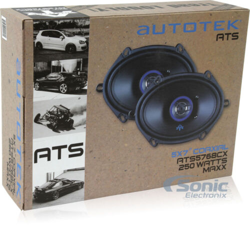 "AUTOTEK 250W 5/"" x 7/"" 2-Way ATS Series Coaxial Car Stereo SpeakersATS5768CX"