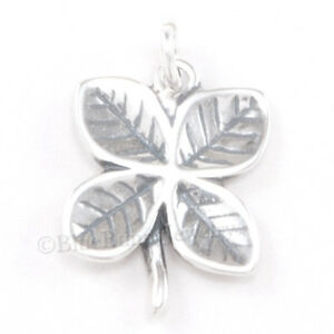 FOUR-LEAF-CLOVER-Charm-Pendant-Irish-Good-LUCK-925-Sterling-Silver-3D