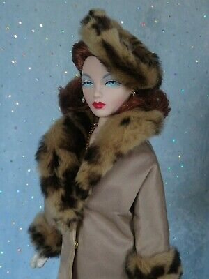 "AllforDoll FUR COAT HAT for 16/"" Tonner Ficon Gene BJD Madra Deja Vu Marion Doll"