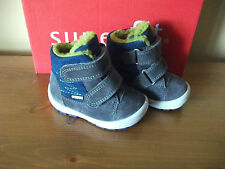 Boys SUPERFIT 311 GORETEX Grey SUEDE Strap SNOW Boot  UK 3.5 Eur 19 NEW!