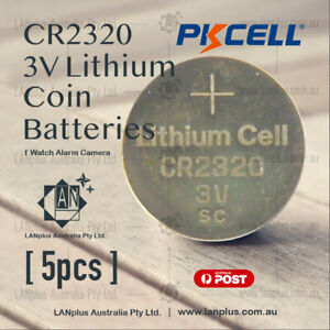 5-x-CR2320-3V-Lithium-Battery-STOCK-IN-Melbourne-Button-Coin-Cell-CR-2320