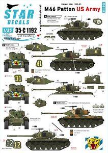 Star-Decals-1-35-US-Army-M46-Patton-Korean-War-1950-53-35c1192