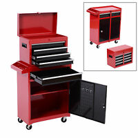 Homcom Portable Tool Chest Rolling Toolbox Storage Cabinet Cart Sliding Drawers on sale