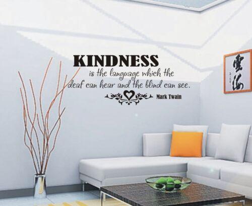029 3 tamaños Bondad es el lenguaje Pared Arte Pegatina Citar Pared Dormitorio