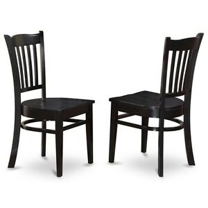 Details About East West Furniture Dining Chair With Wood Seat In Black  Finish, Set Of 2 NEW