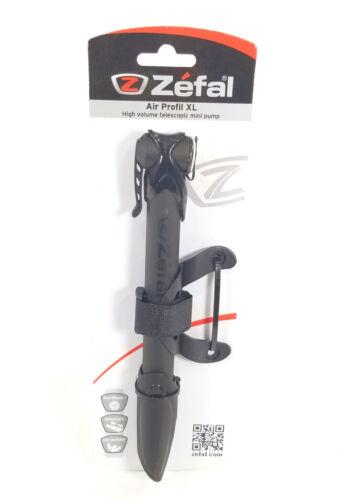 ZEFAL Air Profil XL Dual Valve 160 PSI Road Bike Alloy Mini Pump Black w// Mount