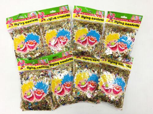 50g 50 Grams Multi Coloured Metallic Foil Flying Confetti Birthday Wedding Party