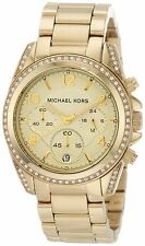 Michael Kors Blair Gold Tone Cronografo Da Donna Runway Designer Watch MK5166