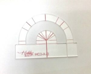 quilting ruler template 3 half circles in one hc3 a 3 3mm ebay