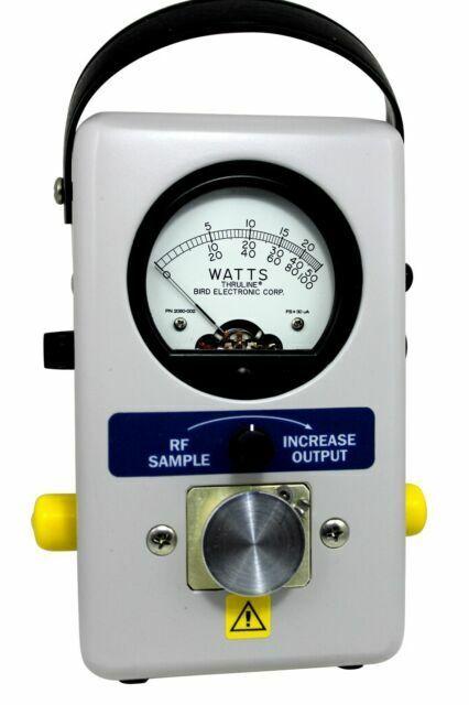 Bird 43 Wattmeter HF VHF 50C 100H 50W Load case element