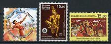 Sri Lanka 2016 MNH World Children's Day Volleyball Archaeological Soc 3v Stamps
