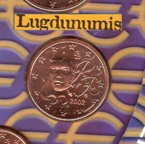 France 2002 2 Centimes D'euro FDC Scéllée provenant coffret BU 145563 exemplaire
