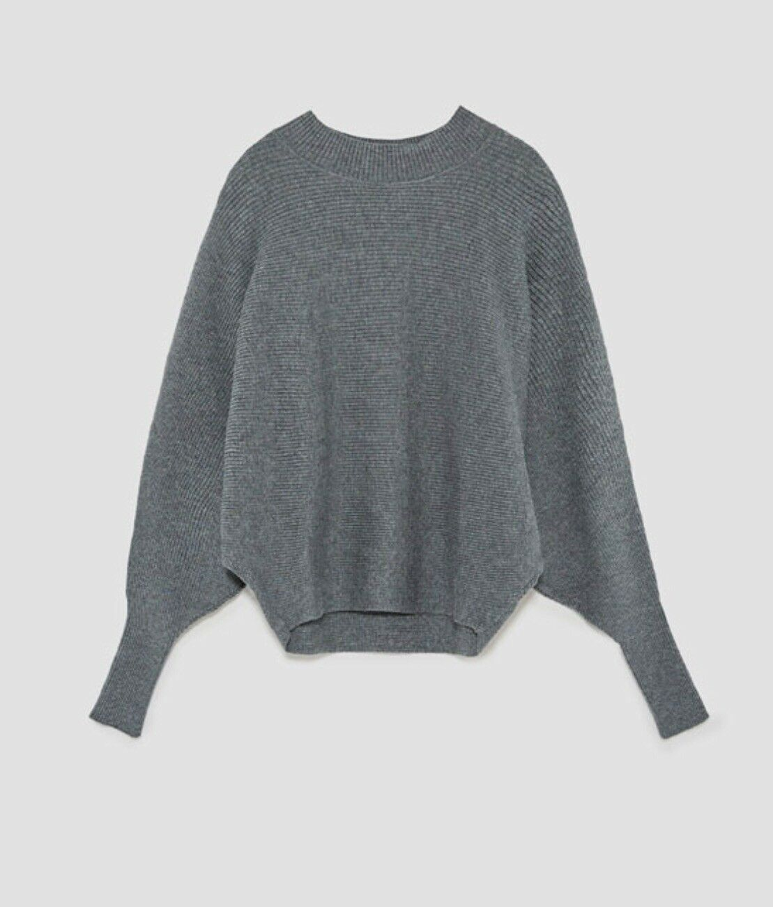 Zara Grey Batwing Sleeve Sweater Size M