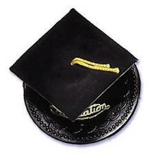 Black Graduation Cap Hat Cake Topper Kit Cupcake Candy Cookie Decorations