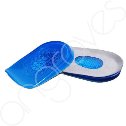 Pair of Silicone Gel Heel Protector Support Flat Feet Pain Relief Airflow Cup