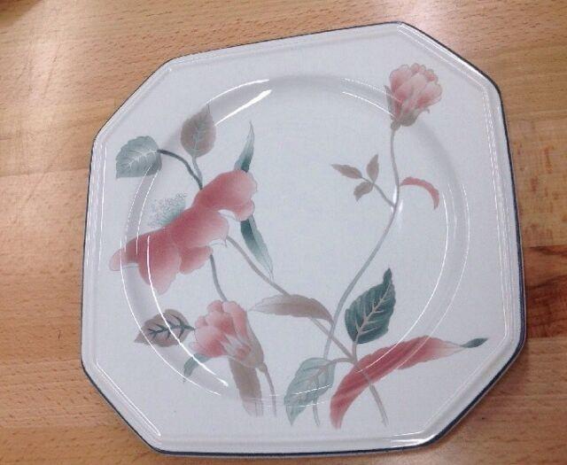 "Mikasa Silk Flowers 8 3//8/"" Soup Bowls 6"