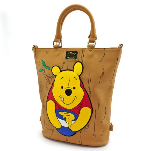Loungefly Disney Winnie the Pooh Honey Front and Back Tote Bag Purse WDTB1409