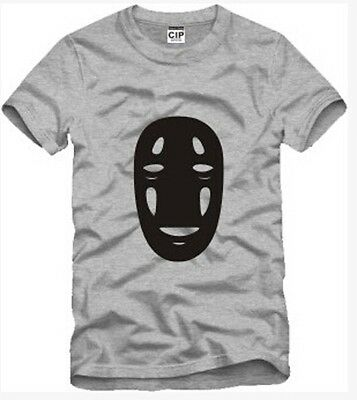 Spirited Away / A Voyage of C No Face Men Cosplay Costume T-shirt Uzumaki