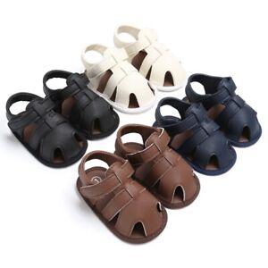 Baby-Kids-Soft-Soled-Leather-Casual-Shoes-Summer-Boy-Sandals-Prewalker-0-18M