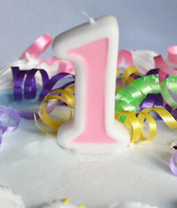 Image Is Loading Pink 1 Number Candle White Premium Birthday