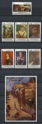 Nicaragua 1994 Moderne Gemälde Paintings Kunst Art 3448-3454 Block 231 Mnh Kunst & Kultur Briefmarken