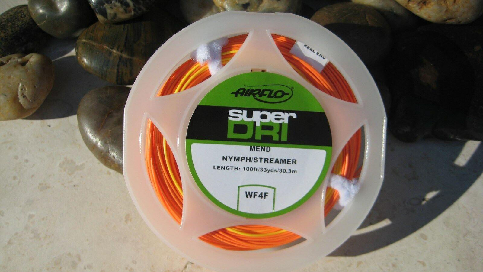 Airflo Super Dri Nymph Streamer Fly Line,  WF-4-F, Hot Coral, NIB  good quality
