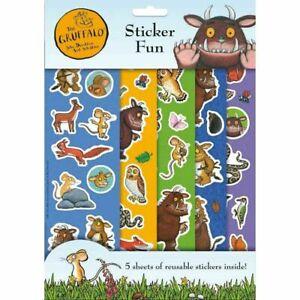 El Gruffalo Historia Set 5 Hojas de Pegatinas de caracteres reutilizable para niños 3187