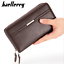 Men-039-s-Leather-Business-Clutch-High-Capacity-Wallet-Double-Zipper-Long-Purse-New thumbnail 2