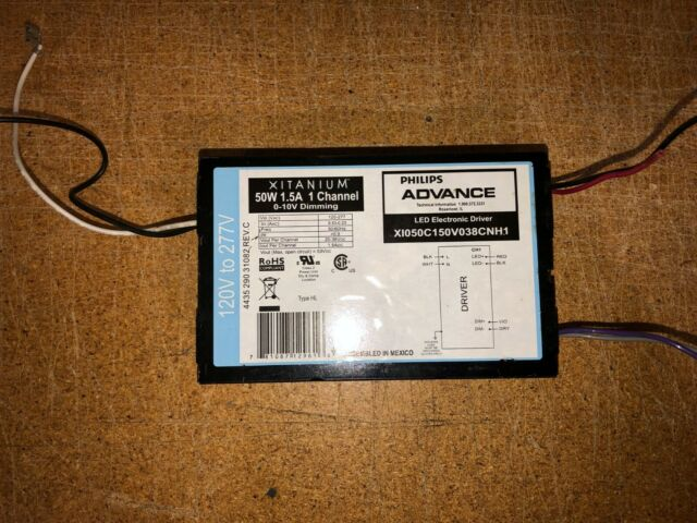 Philips Advance Xitaniumx X1095C275V054BSS1 LED Driver 0-10V Dimming 95W